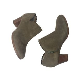 Jack Rogers Olive Marianne scalloped booties 7.5